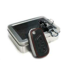 Black Leather Car Remote Control Key Case For Toyota Hilux Revo Corolla Altis