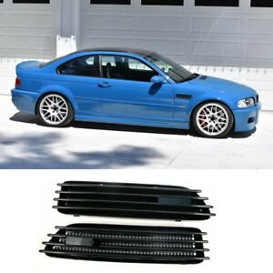 Glossy Black Side Grill Fender Vent Replacement Grille For Bmw E46 M3 2001 2006