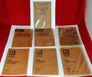 7 Caterpillar Tractor Parts Catalog Lot Rd7 141 153 D9g D8k 183b