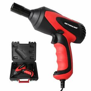 Getuhand Car Impact Wrench 1 2 Inch 12 Volt Portable Electric Impact Wrench Kit