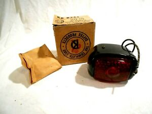 Vtg Kd Lamp B244 Black Enamel Finish Combination Stop Rear Lite rat Rod Nos