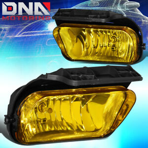 For 2004 2007 Chevy Silverado 1500 Pair Amber Lens Front Bumper Fog Light Lamps