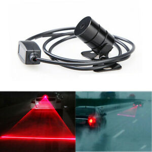 Car Motorcycle Anti Collision Rear Fog Light Led Laser Brake Tail Warning Lamp