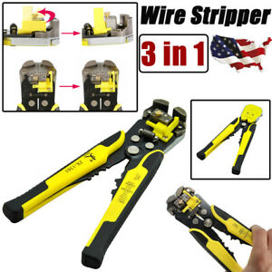 3 In 1 Automatic Cable Wire Striper Cutter Stripper Crimper Plier Stripping Tool
