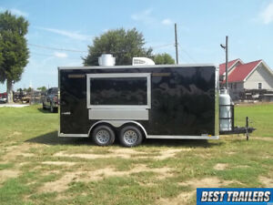 2019 Trailer Cargo 8 5 X 16 Concession New Vending Sink Propane And Hood Ready