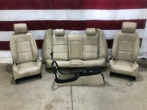 04 08 Jaguar S Type R Leather Seat Set Dvd Screens Oem Used With Console