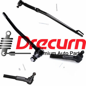 4pcs Front Suspension Drag Link Tie Rod Set For Ford Excursion F 250 F 350 2wd