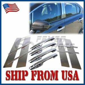 Us Chrome Door Handle Cover Pillar Post Set For Honda Civic Sedan 2006 2011 Fm