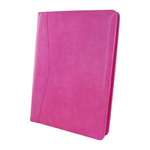 Royce Executive Writing Portfolio And Organizer In Pink Leather Breast Cancer