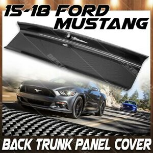 For 15 18 Ford Mustang Gloss Carbon Fiber Trunk Panel Cover Boot Overlay Trim
