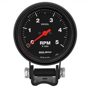 Autometer Performance Series Mini Tachometer Diesel 0 5 000 2 5 8 Dia 2888