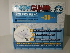 Snowguard 50 Pack Metal Roof Snow Guards Self sealing New Unopened