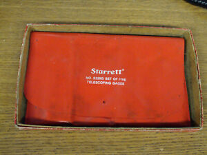 Nice L s Starrett S229g Set Of 5 Telescoping Gages W Stow Pouch Usa