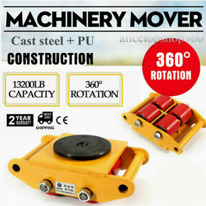 Dolly Heavy Duty Machinery Skate Roller Mover With 360 Degree Rotation Cap 6t