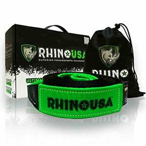 Rhino Usa Recovery Tow Strap 3 X 20ft Lab Tested 31 518lb Break Strength