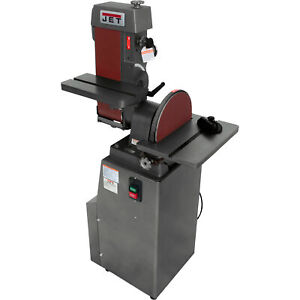 JET Industrial 1-12HP Combo BeltDisc Finishing Sander-6x48in Belt 12in Disc