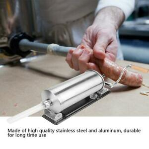 New 3 6l Sausage Stuffer Maker Meat Filler Machine Stainless Steel Commercial Us