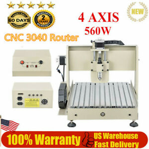 4 Axis Cnc 3040 560w Router Engraving Machine For Drill Mill 3d Wood Metal Cut