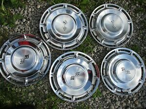 Gently used 1960 Chevrolet Impala 14 Wheelcover Set five Clean stainless