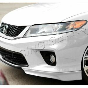 Fit 2013 15 Honda Accord Coupe Hfp Style Painted White Front Bumper Spoiler Lip