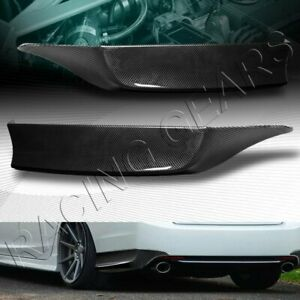 Hfp Style Carbon Style Rear Bumper Spoiler Lip 2 pcs Fit 13 15 Honda Accord 4dr