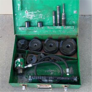 Greenlee 7310 1 2 4 Hydraulic Knockout Punch Die Set please Read
