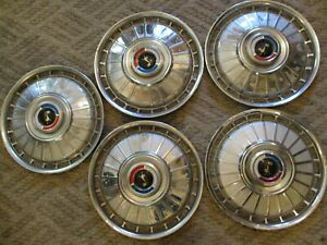 Gently Used 1962 Ford Fairlane 14 Wheelcover Set five Clean Units Holander o4
