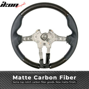 Fits 15 19 Bmw M Steering Wheel Matte Cf Perforated Leather M Stitching