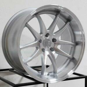 Aodhan Ds02 18x8 5 18x9 5 5x100 35 Silver Machined Face Wheels 18 Inch Set 4