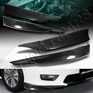 Hfp Style Carbon Style Front rear Bumper Spoiler Lip Fit 13 15 Honda Accord 4dr