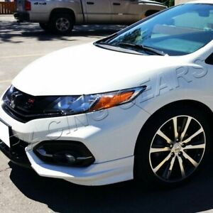 Fit 2014 2015 Honda Civic Coupe Hfp Style Painted White Front Bumper Spoiler Lip