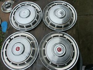 Gently Used 1965 Amc Rambler 14 Wheelcover Set Four Clean Nice Hard To Find