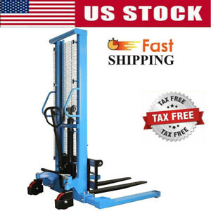 Manual Forklifts Pallet Stackers Hand Pump Lift Trucks Max Fork 63 Lift 2200lbs