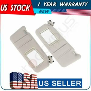 Tan Beige Sun Visor Left right Fit For 2007 2011 Toyota Camry W o Vanity Light