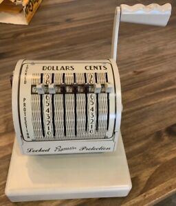 Paymaster System Check Writer Series S 550 Without Key Refurbished Rare Nice