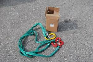 3 Leg Lifting Sling 6 Long Atlantic Wire Rigging 8000 Pounds Max New