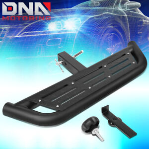Universal Hitch Mounted Tow Step Bar Board 2 Receiver Powder Coated Aluminum