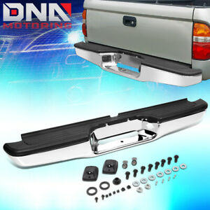 For 1995 2004 Toyota Tacoma Stainless Steel Rear Step Bumper Face Bar Assembly