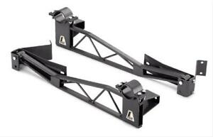 Lakewood 20460 Ladder Bars Steel Black Powdercoated Bolt on Gm A body Kit
