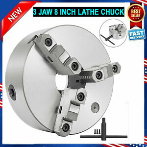 Self centering Lathe Chuck 3 Jaw 8 Inch For Milling K11 200a Hardened Steel New
