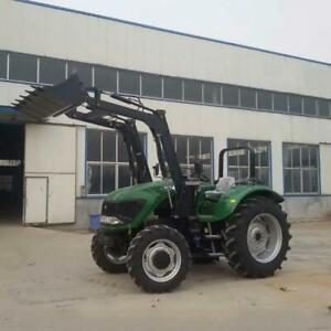 100 Hp 4 Wheel Tractor With Front Bucket Backhoe Loader
