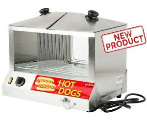 100 Hot Dog 48 Bun Steamer Stand Food Warmer Commercial Concession Cart Warm New