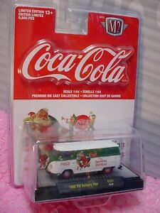 Coca-Cola 1960 VW DELIVERY VAN∞white/green;Sparkling Holidays🎅M2 Machines✨18-32