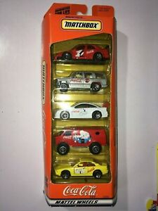 Matchbox Coca Cola Year 1999 5 Car Gift Pack Mattel Wheels Coke