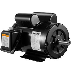 5 Hp Air Compressor Duty Electric Motor 145t Frame 3450 Rpm Single Phase Vevor