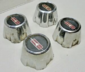 416393 Gm Oe Chrome Wheel Center Caps Oldsmobile Cutlass 1978 1987 Set Of 4