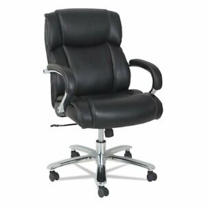 Alera Alems4519 Maxxis Series Big And Tall Leather Chair Black Supports Up To