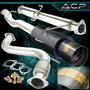 For 94 97 Accord 2 4dr 4 Cyl 4 5 Muffler Tip 76mm Piping Catback Exhaust System
