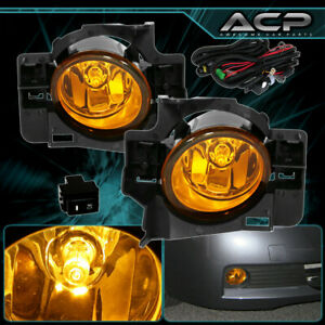 Yellow Amber Fog Lights For 2008 2009 2010 2011 2012 Nissan Altima Coupe 2 Door