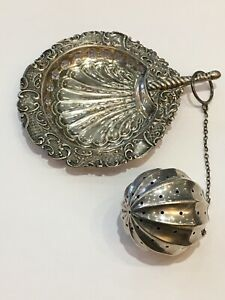 Deykin Harrison Tea Strainer Whiting Sterling Tea Ball Infuser Magnificent